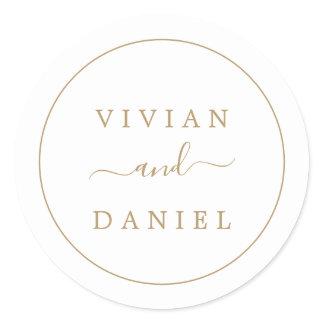 Minimalist Gold Wedding Envelope Seals