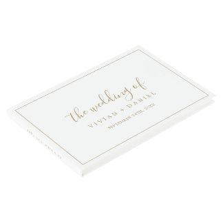 Minimalist Gold Wedding Guest Book