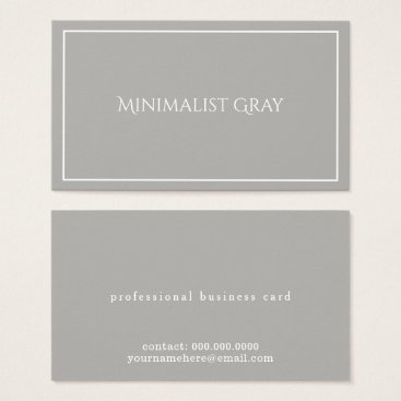 Professional Business minimalist gray simple professional & elegant business card