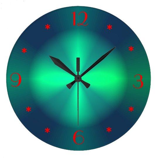 Minimalist Green Red Illuminated Gt Wall Clocks Zazzle Com
