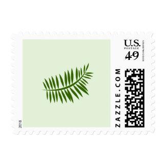Minimalist Green Tropical Fern Stamp