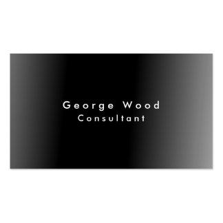 Minimalist gris negro elegante llano tarjetas de visita