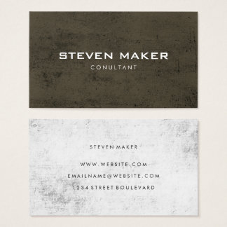 Minimalist Grunge Business Card