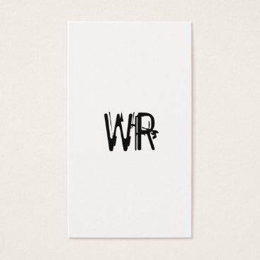 Professional Business Minimalist Grunge Monogram Business Card
