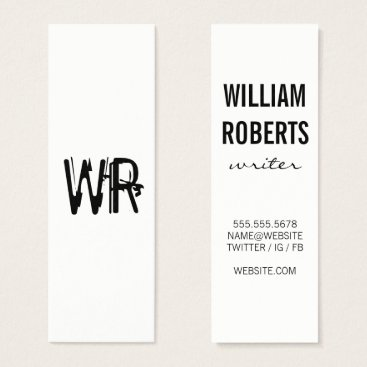 Professional Business Minimalist Grunge Monogram Mini Business Card