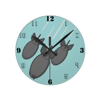 Bomb Wall Clocks | Zazzle