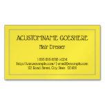 [ Thumbnail: Minimalist Hair Dresser Magnetic Business Card ]