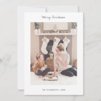 Minimalist Holiday Photo Card