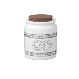 Minimalist Infinity Candy Jars