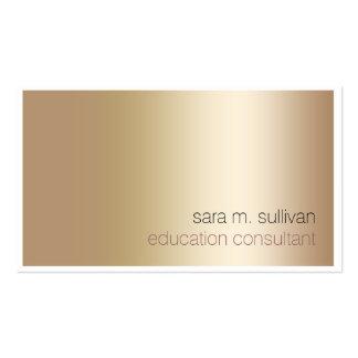 Minimalist intrépido elegante del oro del tarjetas de visita