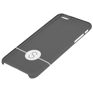 Minimalist iOS 8 Style Plain Black White Monogram Uncommon Clearly™ Deflector iPhone 6 Plus Case