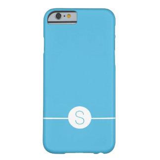 Minimalist iOS 8 Style - Plain Blue White Monogram Barely There iPhone 6 Case