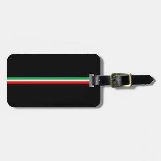 Minimalist Italian Flag Design Luggage Tag