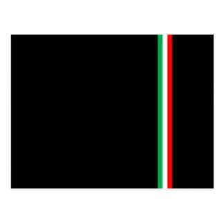 Minimalist Italian Flag Design Postcard