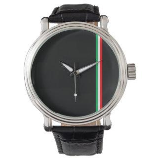 Minimalist Italian Flag Design Wrist Watch