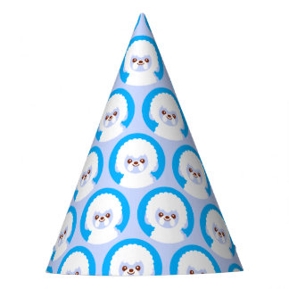 Minimalist Kawaii Bichon Frise Party Hat