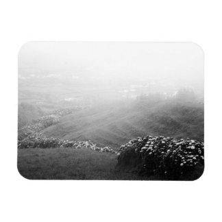Minimalist landscape rectangular photo magnet