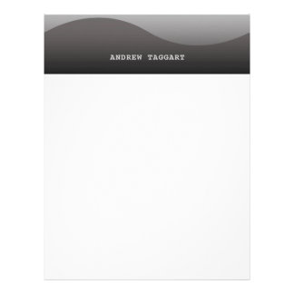 Minimalist Letterhead with simple gray design