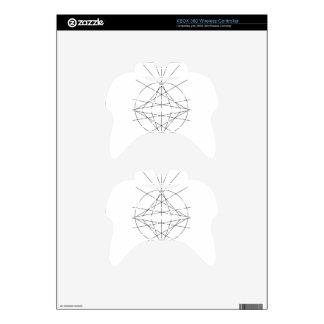 Minimalist Line Art - Black and White Geometric Xbox 360 Controller Skin