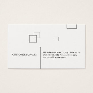 Minimalist Lines and Squares Business Card