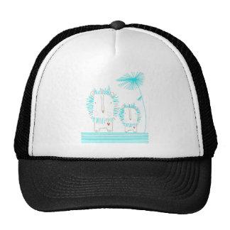 Minimalist Lion - Aqua and White Trucker Hat