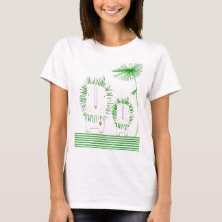 Minimalist Lion - Green T-Shirt