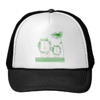 Minimalist Lion - Green Trucker Hat