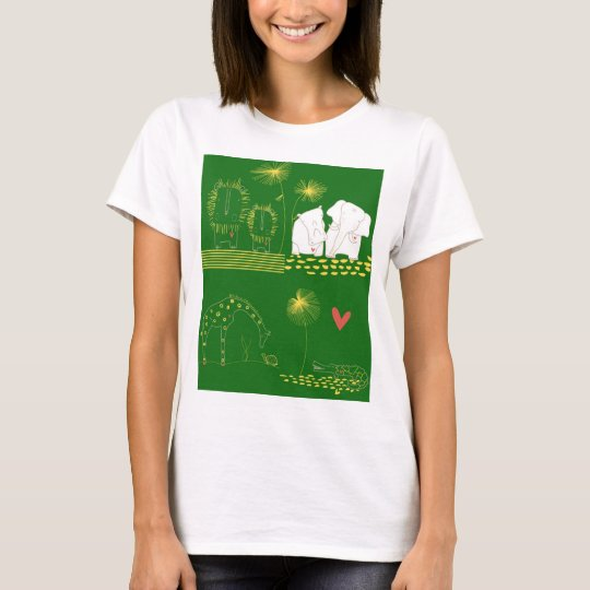 Minimalist Lion, Turtle, Crocodile and Giraffe T-Shirt