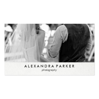 Minimalist Look with Your Photo for Photographers Business Card