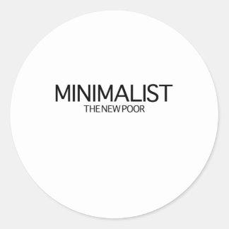 Minimalist (los nuevos pobres) pegatinas redondas