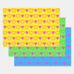 [ Thumbnail: Minimalist Loving Valentine's Day Heart Shapes Wrapping Paper Sheets ]