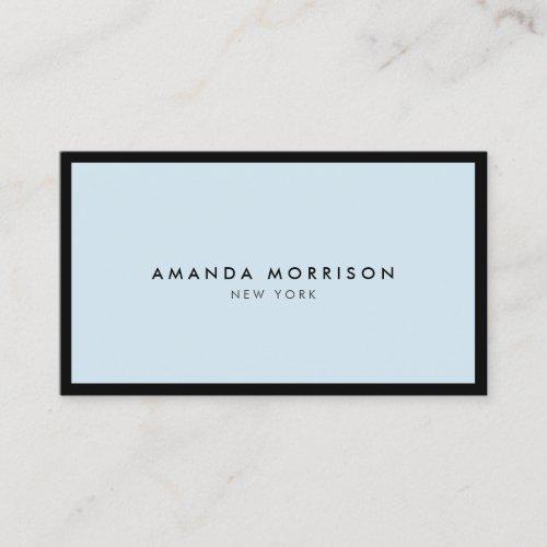 Minimalist Luxury Boutique BlackBlue Business Card