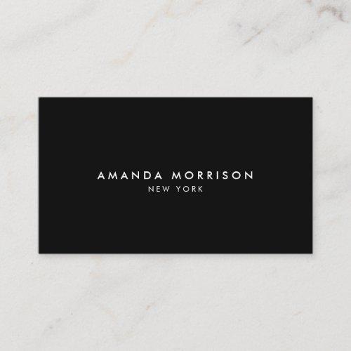 Minimalist Luxury Boutique Black Business Card