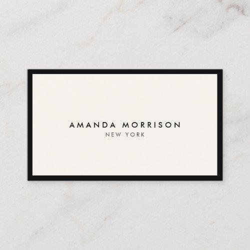 Minimalist Luxury Boutique Black/Ivory Business Card