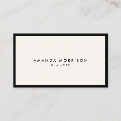 Minimalist Luxury Boutique BlackIvory Business Card