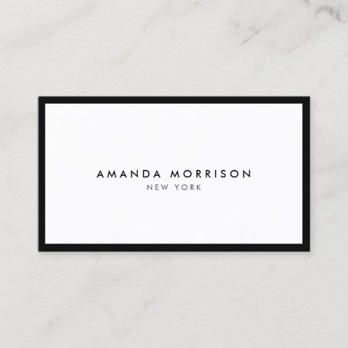 Minimalist Luxury Boutique BlackWhite Business Card