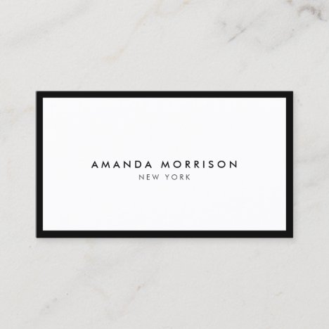 Minimalist Luxury Boutique Black/White Business Card
