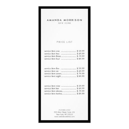 Minimalist Luxury Boutique BlackWhite Rack Card