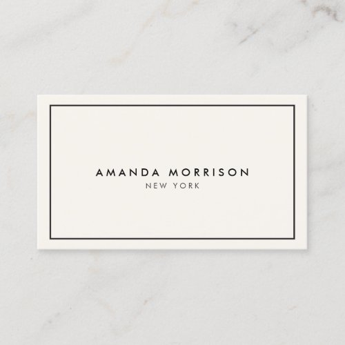 Minimalist Luxury Boutique IvoryBlack Business Card