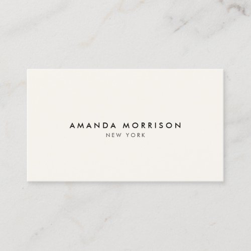 Minimalist Luxury Boutique Ivory Business Card
