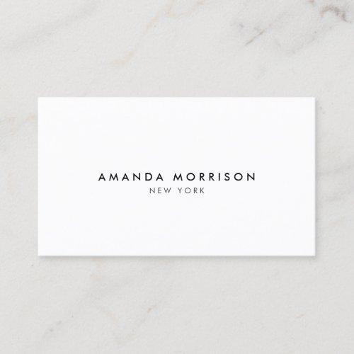 Minimalist Luxury Boutique White Business Card