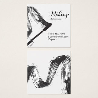 Minimalist  Makeup Artist Square Business Card