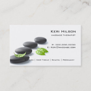 Massage therapist business cards templates zazzle minimalist massage therapist business card colourmoves