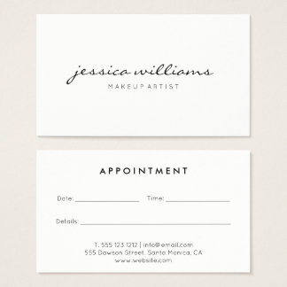 Appointment Office Products Supplies Zazzle - Appointment business card template