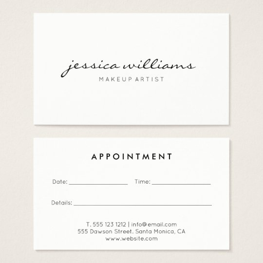 Appointment Business Cards Templates Zazzle - Business card appointment template