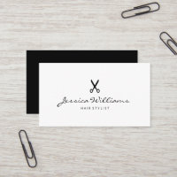 Minimalist Modern Chic Hair Stylist Scissor Business Card