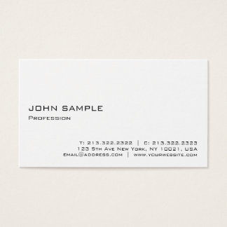 Minimalist Modern Elegant Professional White Business Card