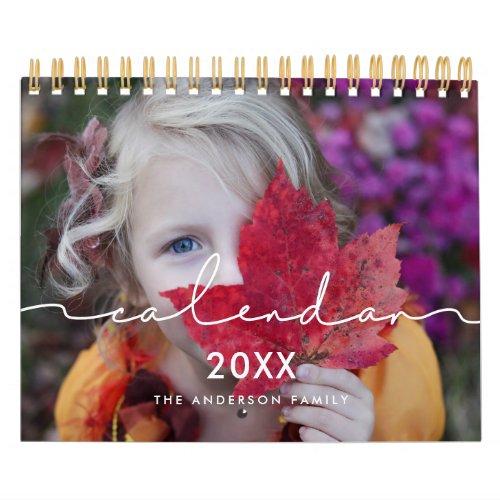 Minimalist modern family photo 2021 calendar