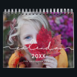 """Minimalist modern family photo 2021 calendar<br><div class=""""desc"""">A modern photo calendar with a minimalist handwritten typography,  to customize with your family pictures,  a perfect way to start the year 2021. Fully customizable text colors.</div>"""