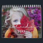 """Minimalist modern family photo 2022 calendar<br><div class=""""desc"""">A modern photo calendar with a minimalist handwritten typography,  to customize with your family pictures,  a perfect way to start the year 2022. Fully customizable text colors.</div>"""